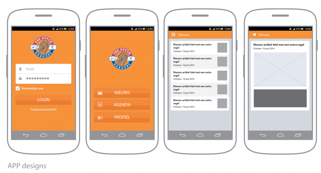 the dutch dragons app ontwerp